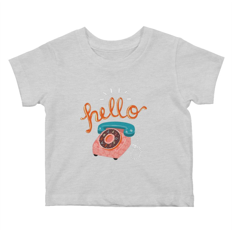 hello Kids Baby T-Shirt by Winterglaze's Artist Shop