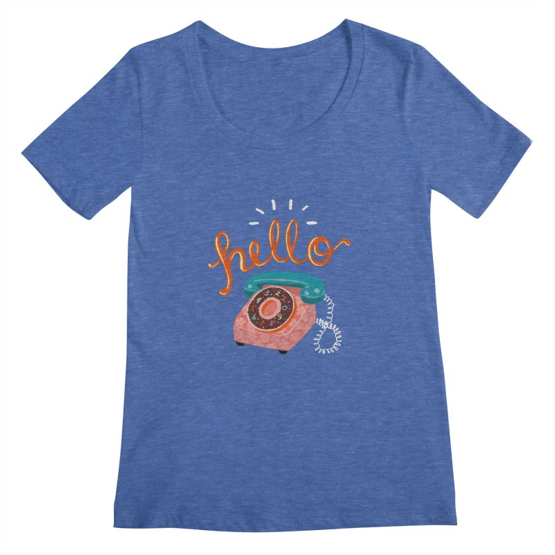 hello Women's Regular Scoop Neck by Winterglaze's Artist Shop