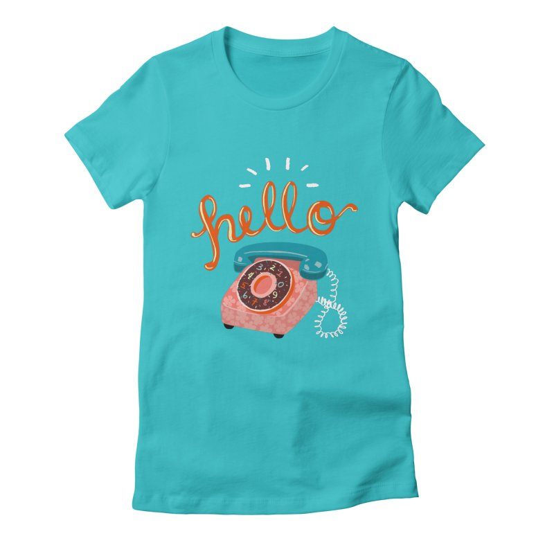 hello Women's Fitted T-Shirt by Winterglaze's Artist Shop