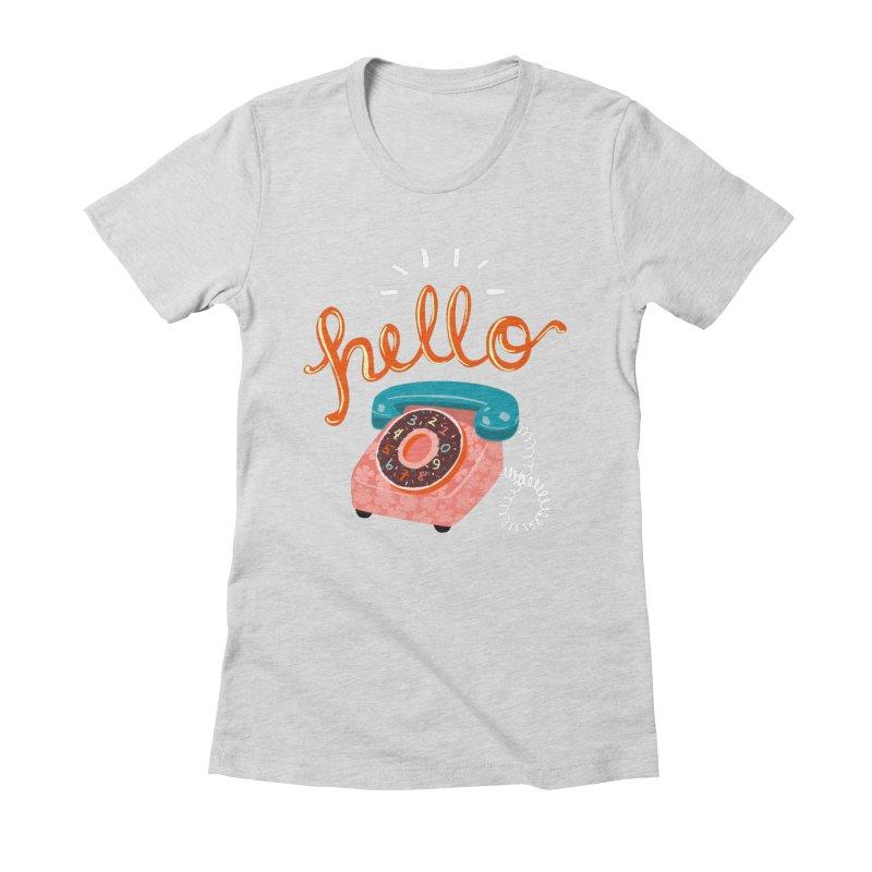 hello Women's Fitted T-Shirt by Winterglaze's Artist Shop