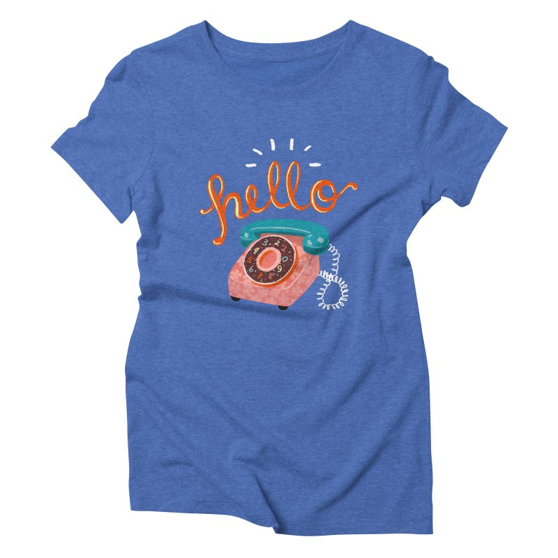 hello Women's Triblend T-Shirt by Winterglaze's Artist Shop