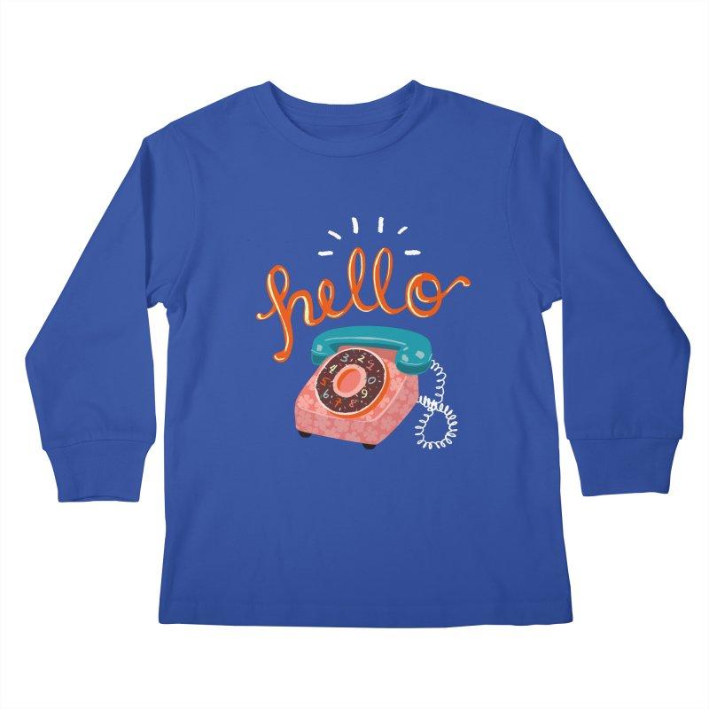 hello Kids Longsleeve T-Shirt by Winterglaze's Artist Shop