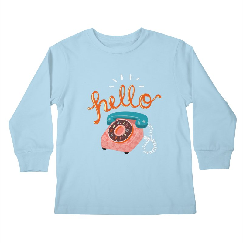hello Kids Longsleeve T-Shirt by Winterglaze's Artist Shop