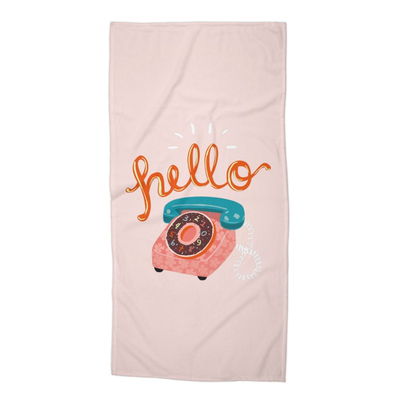 hello Accessories Beach Towel by Winterglaze's Artist Shop