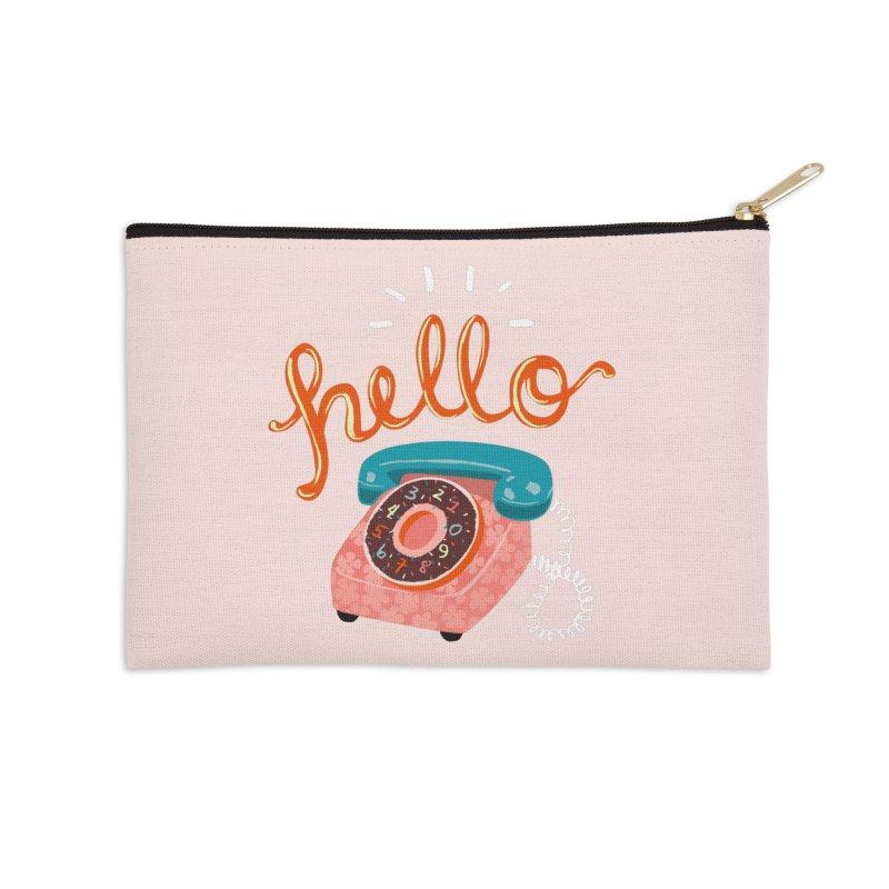 hello Accessories Zip Pouch by Winterglaze's Artist Shop