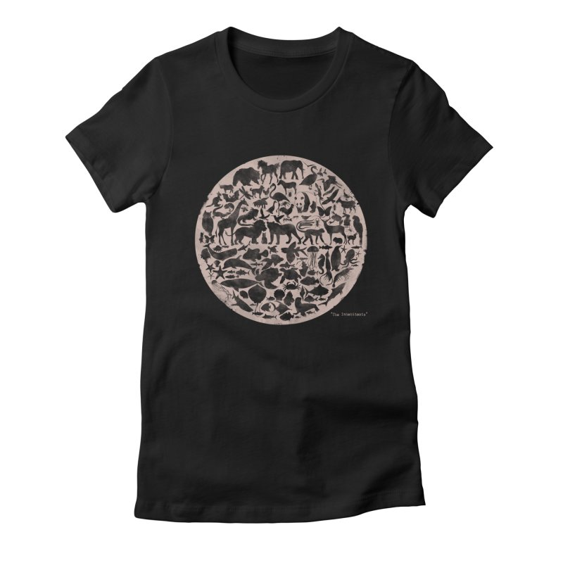 The Inhabitants Women's Fitted T-Shirt by Winterglaze's Artist Shop