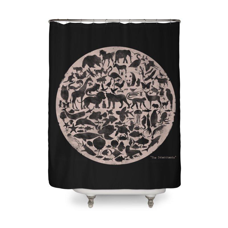 The Inhabitants Home Shower Curtain by Winterglaze's Artist Shop