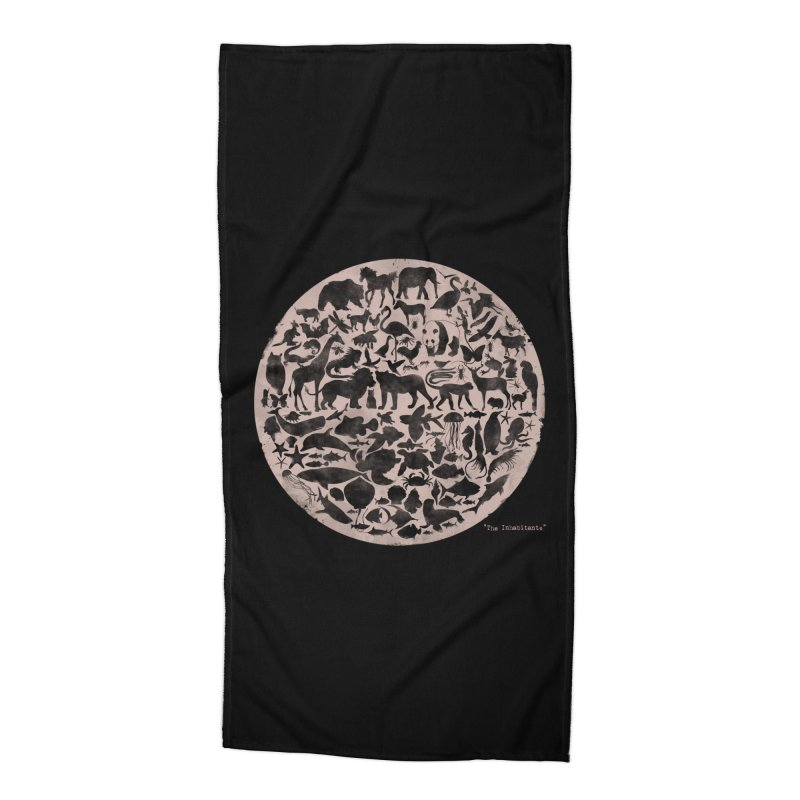 The Inhabitants Accessories Beach Towel by Winterglaze's Artist Shop