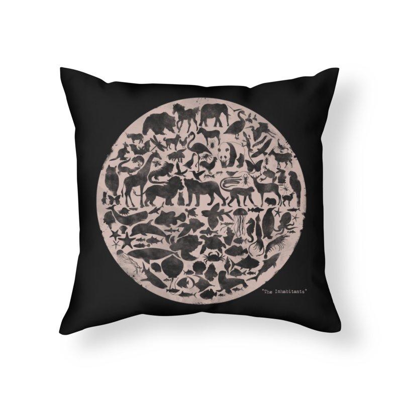 The Inhabitants Home Throw Pillow by Winterglaze's Artist Shop