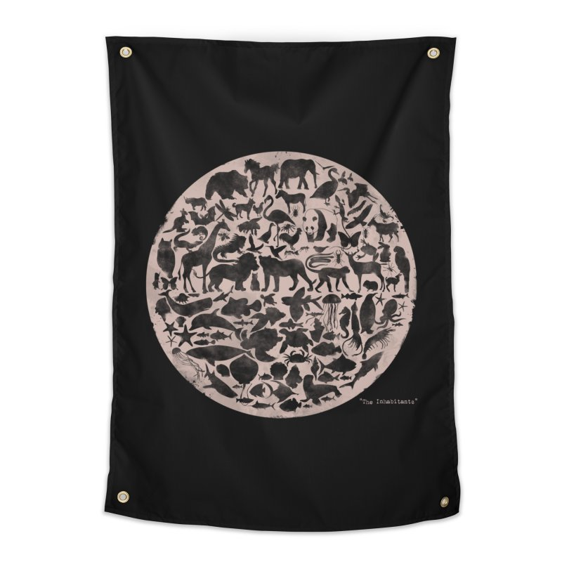 The Inhabitants Home Tapestry by Winterglaze's Artist Shop
