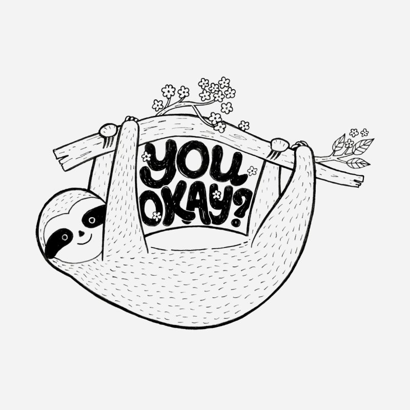 You Okay? Women's Scoop Neck by Winterglaze's Artist Shop