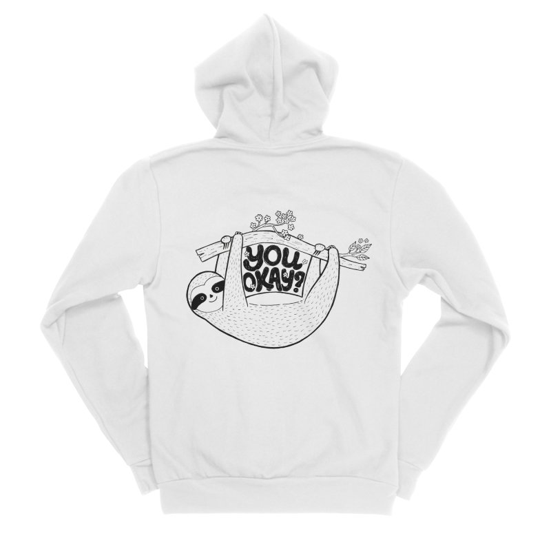You Okay? Men's Sponge Fleece Zip-Up Hoody by Winterglaze's Artist Shop