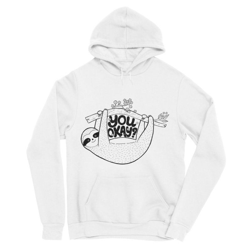 You Okay? Men's Sponge Fleece Pullover Hoody by Winterglaze's Artist Shop