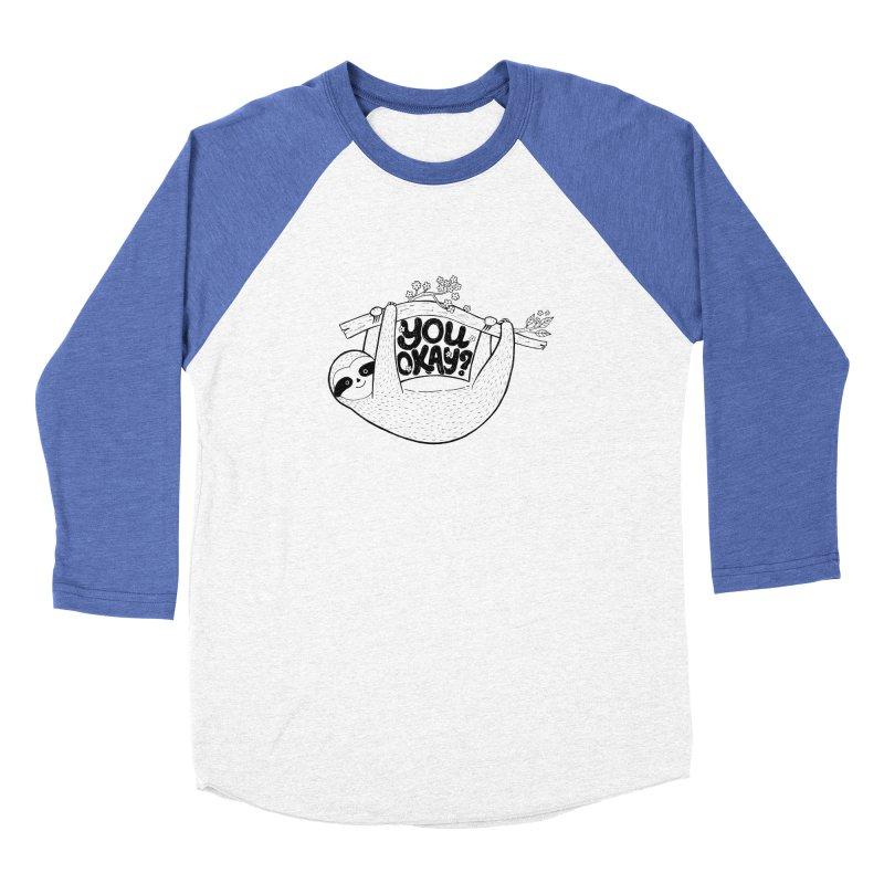 You Okay? Women's Baseball Triblend Longsleeve T-Shirt by Winterglaze's Artist Shop