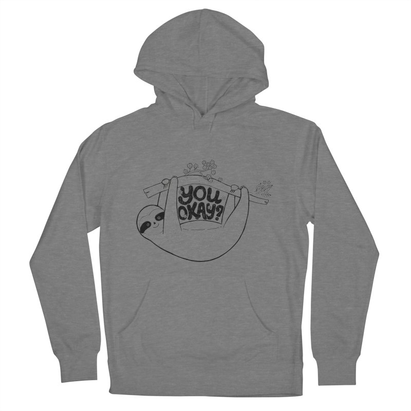You Okay? Men's French Terry Pullover Hoody by Winterglaze's Artist Shop