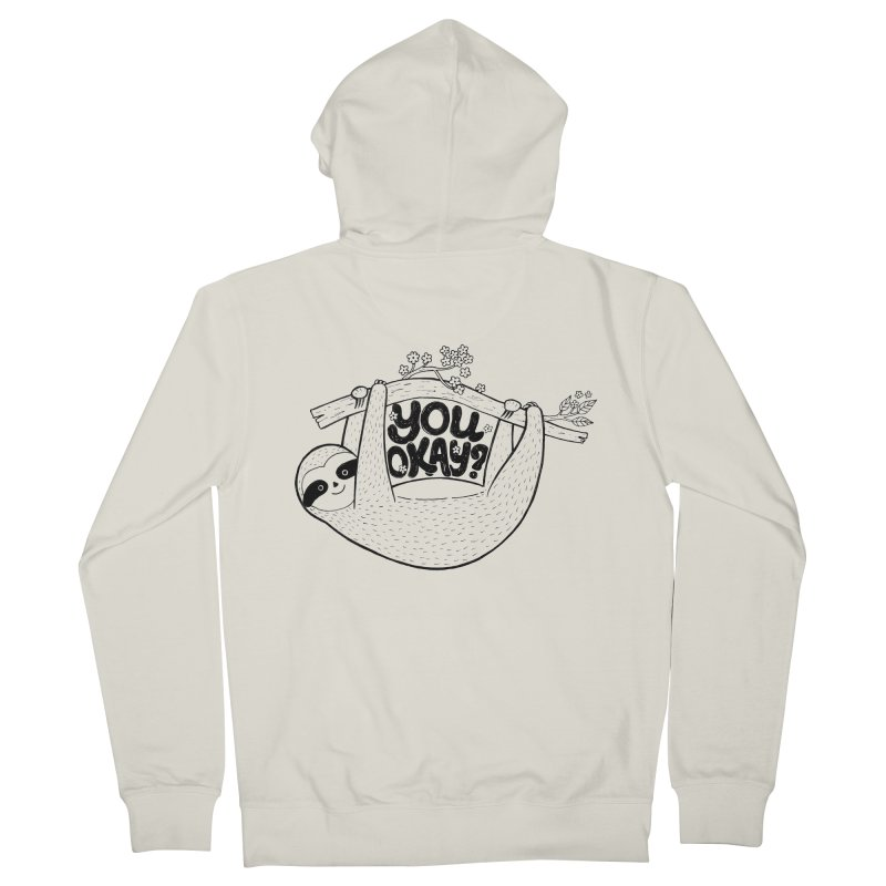 You Okay? Women's French Terry Zip-Up Hoody by Winterglaze's Artist Shop