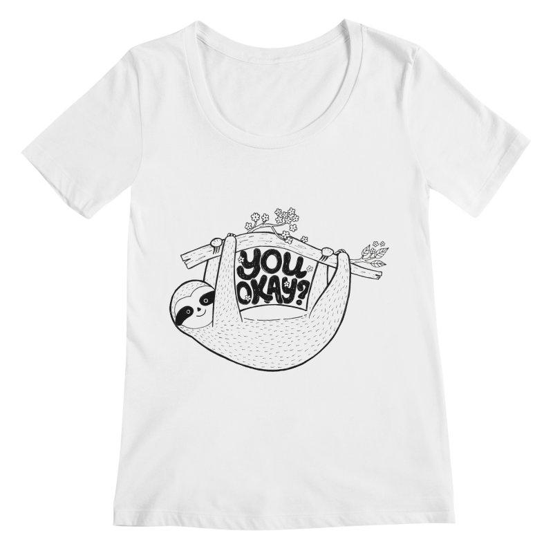 You Okay? Women's Regular Scoop Neck by Winterglaze's Artist Shop