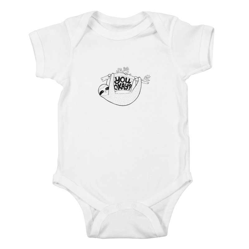 You Okay? Kids Baby Bodysuit by Winterglaze's Artist Shop