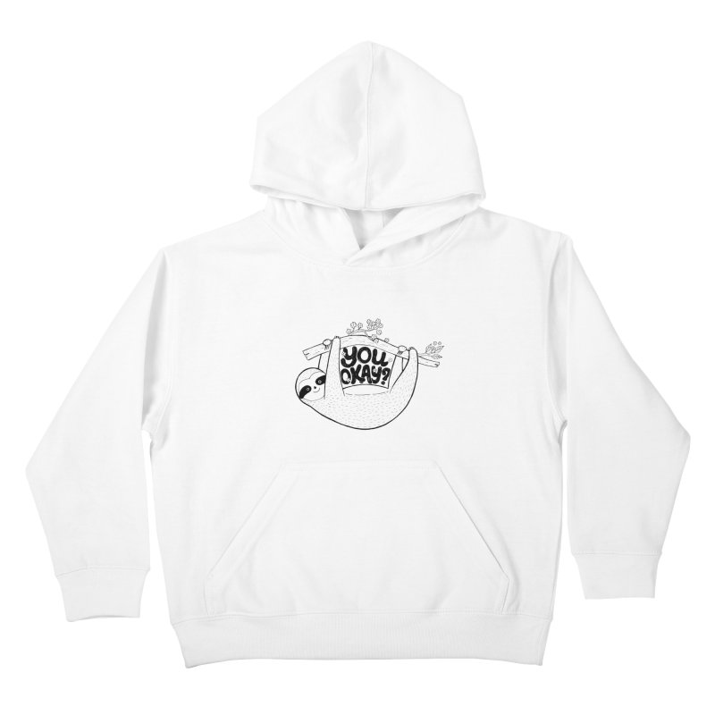 You Okay? Kids Pullover Hoody by Winterglaze's Artist Shop