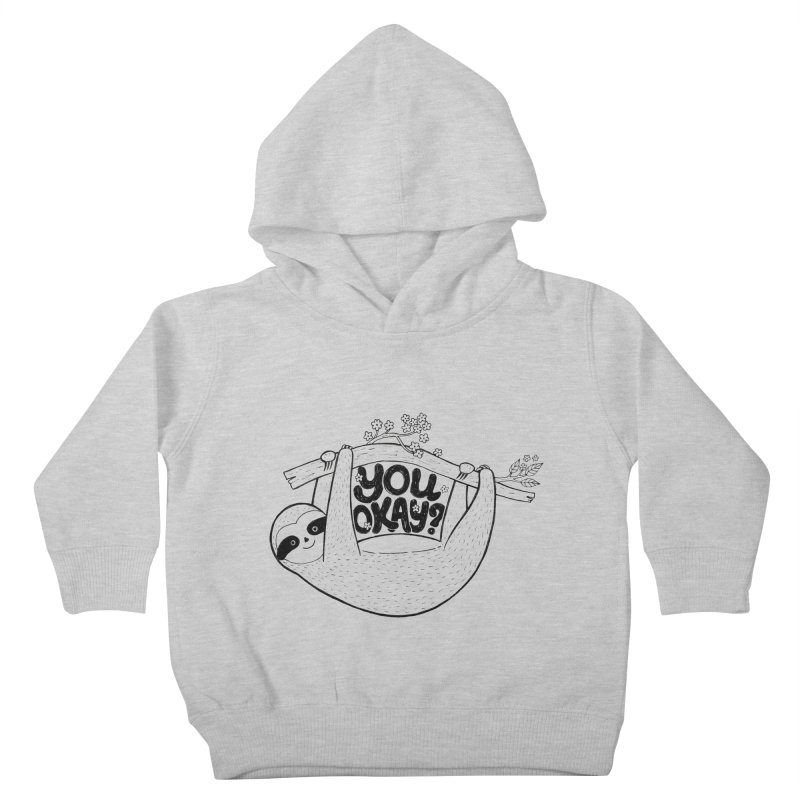 You Okay? Kids Toddler Pullover Hoody by Winterglaze's Artist Shop
