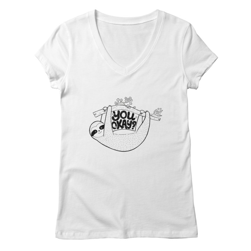 You Okay? Women's Regular V-Neck by Winterglaze's Artist Shop
