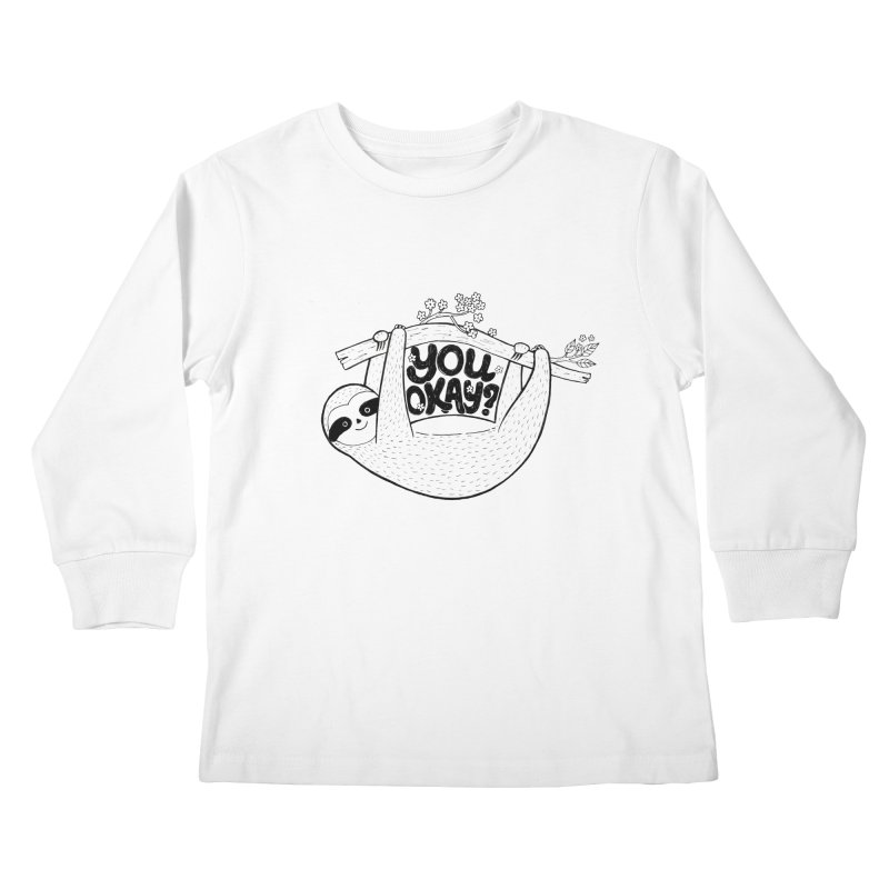 You Okay? Kids Longsleeve T-Shirt by Winterglaze's Artist Shop