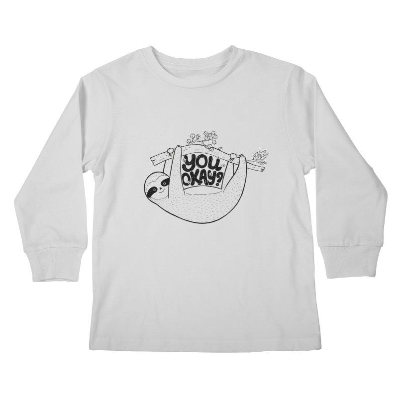 You Okay? Kids Longsleeve T-Shirt by Winterglaze's Artist Shop