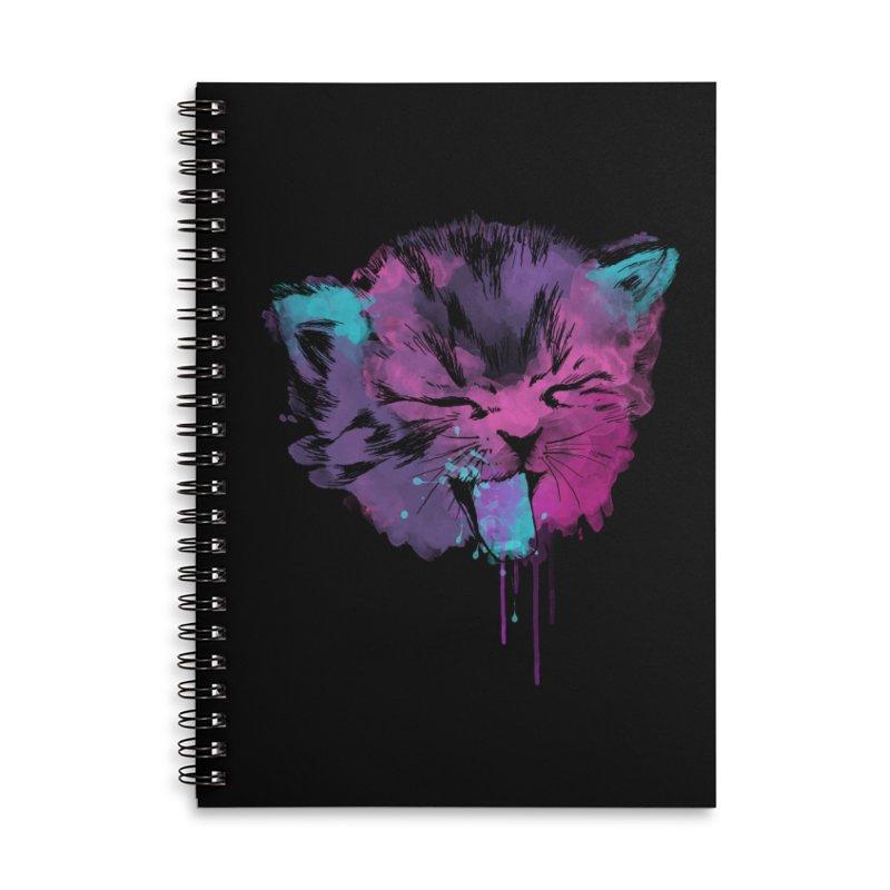 CAT SPLASH Accessories Lined Spiral Notebook by Winterglaze's Artist Shop