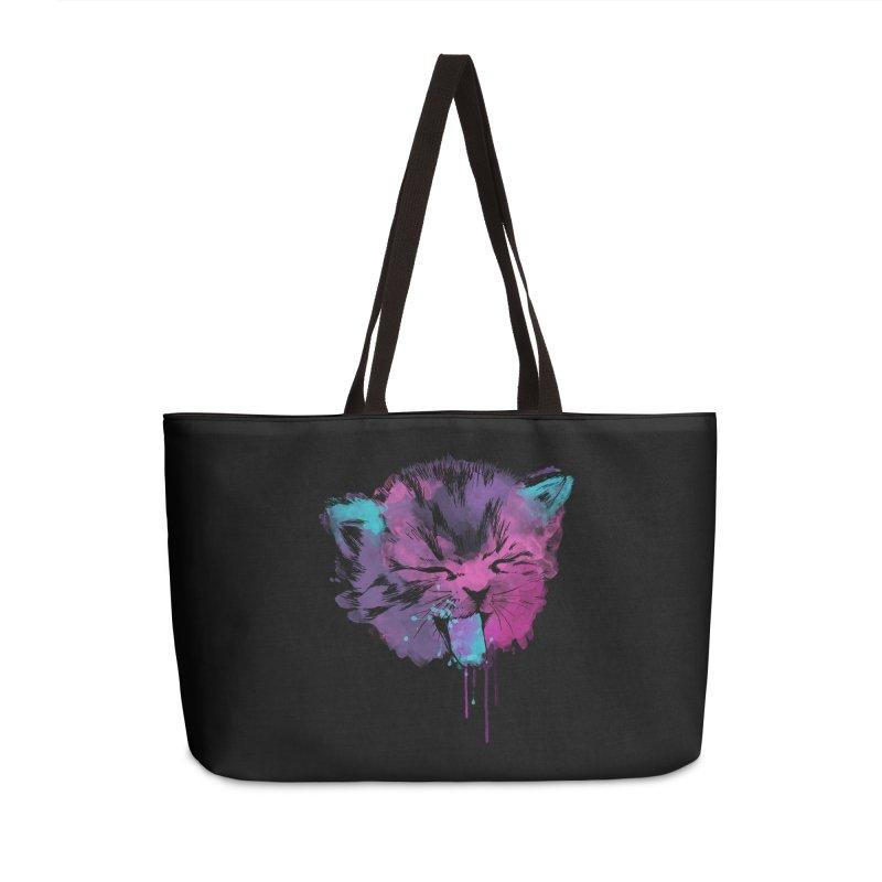 CAT SPLASH Accessories Weekender Bag Bag by Winterglaze's Artist Shop