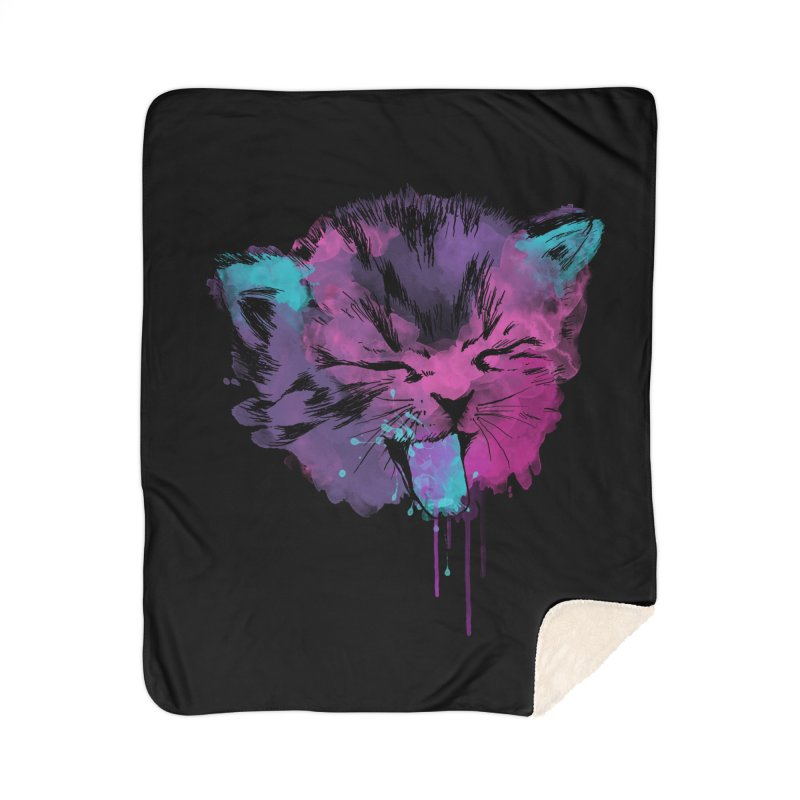 CAT SPLASH Home Sherpa Blanket Blanket by Winterglaze's Artist Shop
