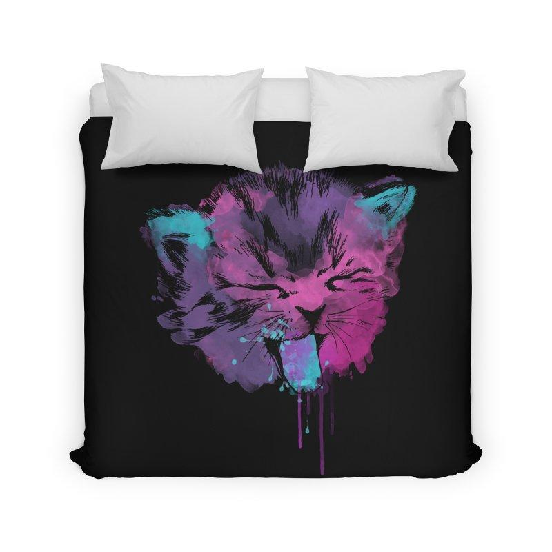 CAT SPLASH Home Duvet by Winterglaze's Artist Shop