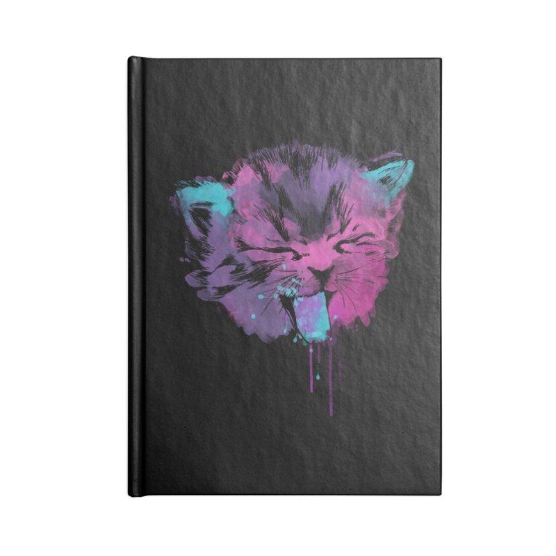 CAT SPLASH Accessories Lined Journal Notebook by Winterglaze's Artist Shop