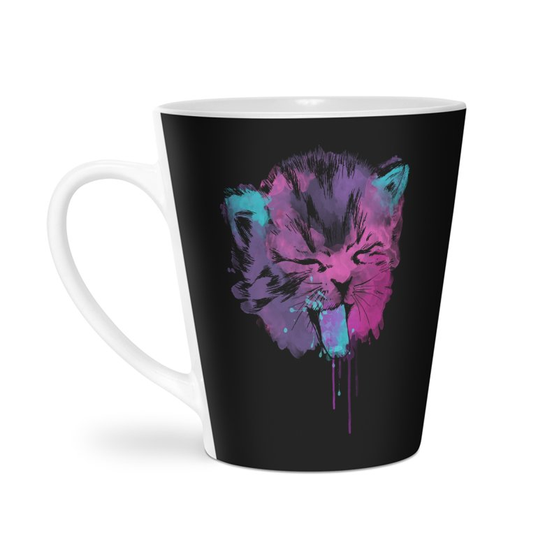 CAT SPLASH Accessories Latte Mug by Winterglaze's Artist Shop