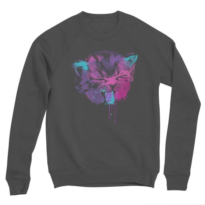 CAT SPLASH Women's Sponge Fleece Sweatshirt by Winterglaze's Artist Shop