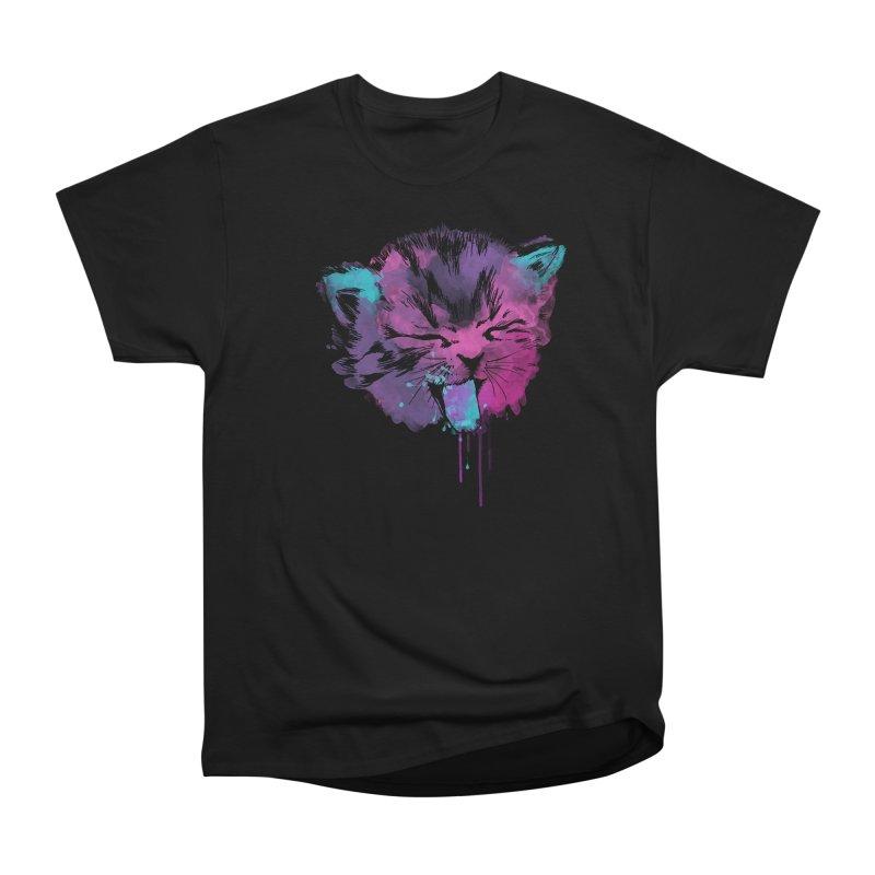 CAT SPLASH Men's Heavyweight T-Shirt by Winterglaze's Artist Shop