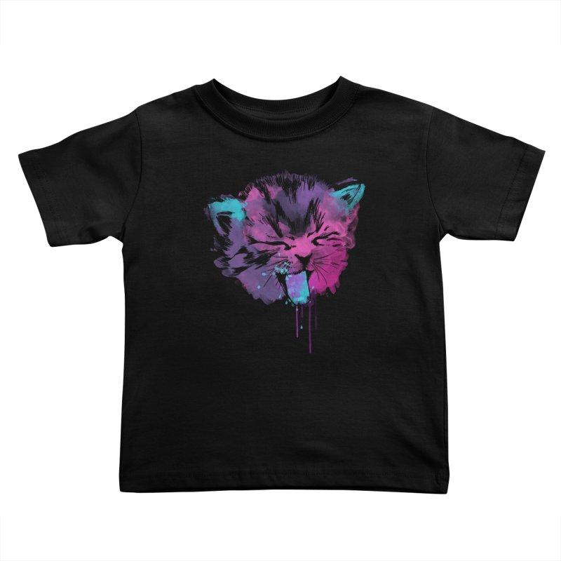 CAT SPLASH Kids Toddler T-Shirt by Winterglaze's Artist Shop