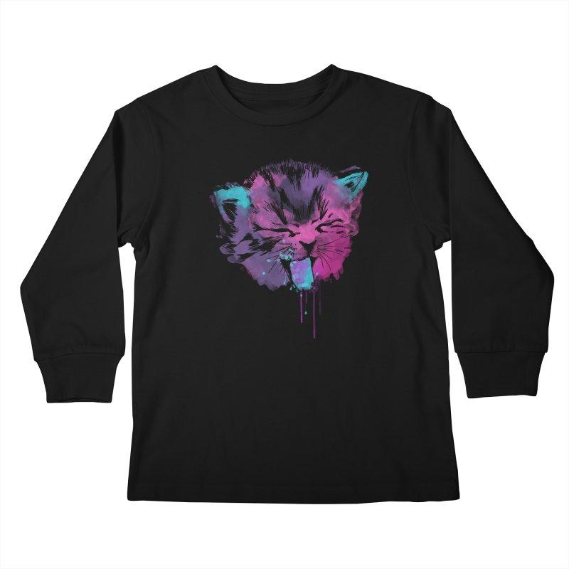 CAT SPLASH Kids Longsleeve T-Shirt by Winterglaze's Artist Shop