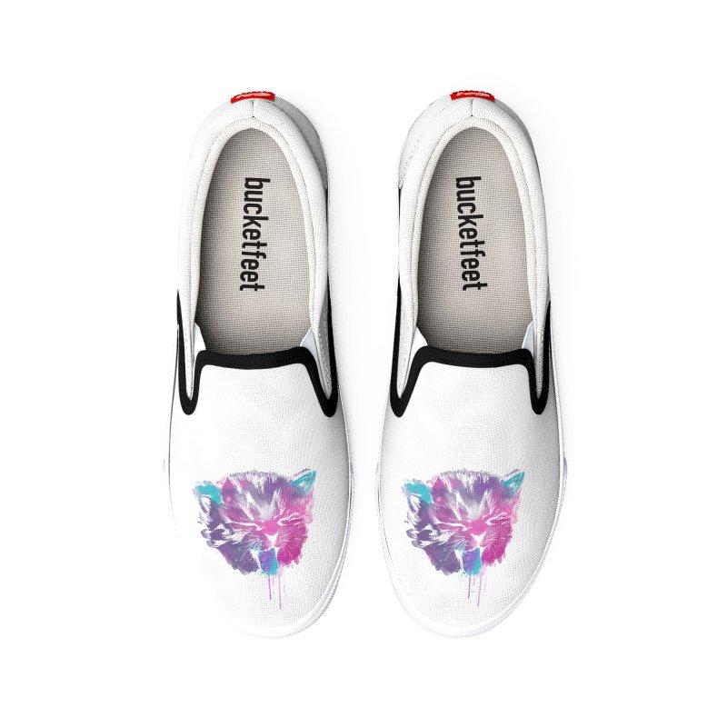 CAT SPLASH Men's Shoes by Winterglaze's Artist Shop