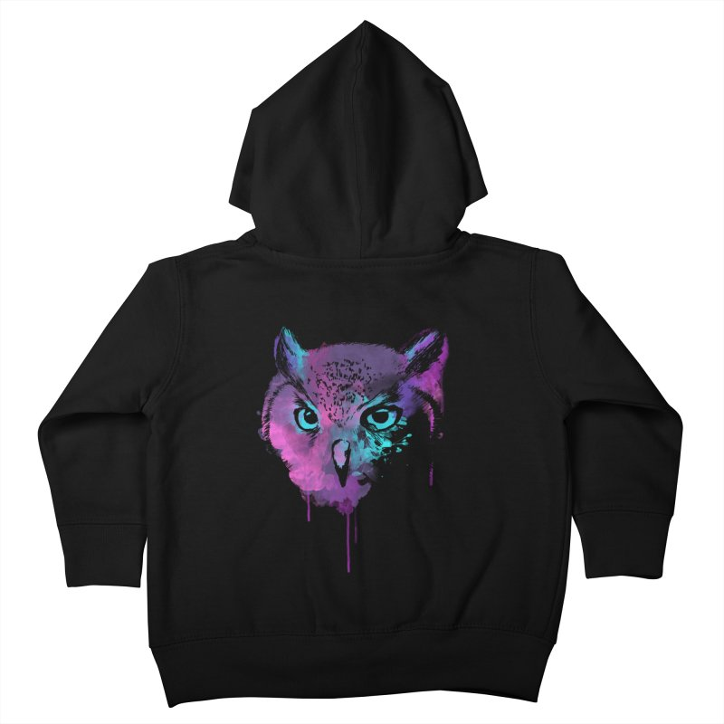 OWL SPLASH Kids Toddler Zip-Up Hoody by Winterglaze's Artist Shop