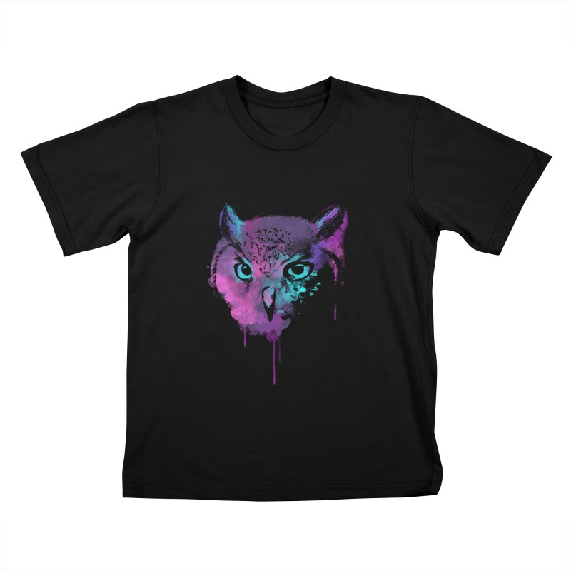 OWL SPLASH Kids T-Shirt by Winterglaze's Artist Shop