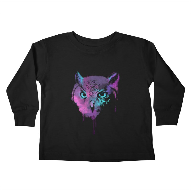 OWL SPLASH Kids Toddler Longsleeve T-Shirt by Winterglaze's Artist Shop