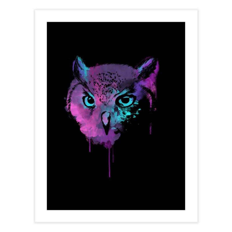 OWL SPLASH Home Fine Art Print by Winterglaze's Artist Shop