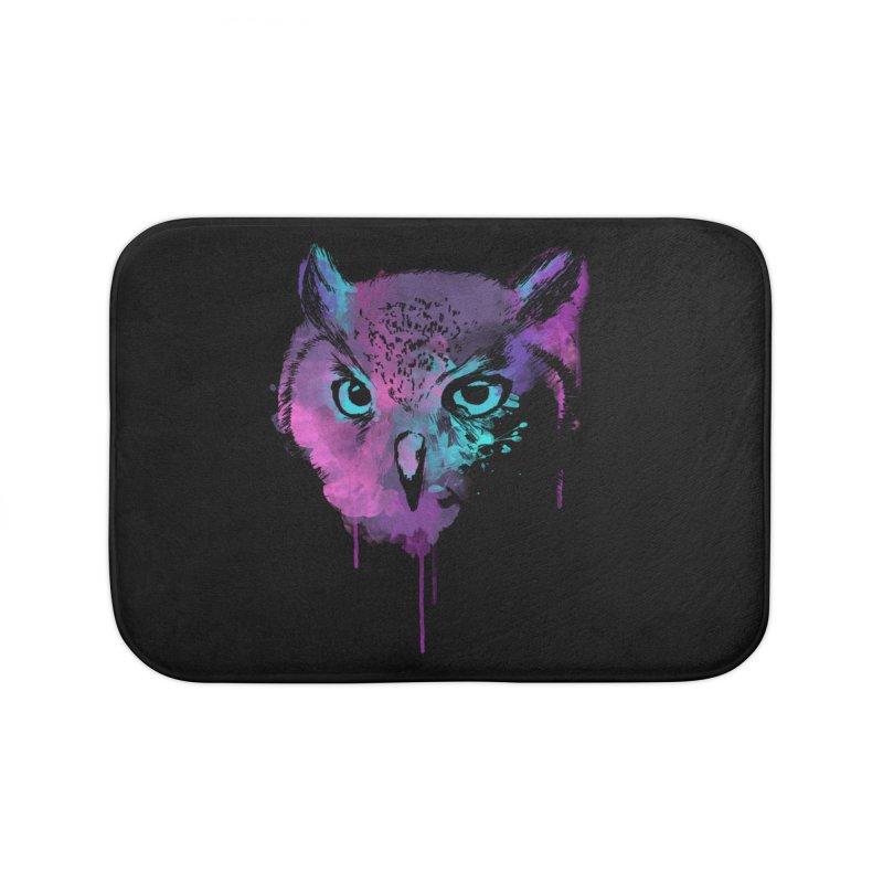 OWL SPLASH Home Bath Mat by Winterglaze's Artist Shop