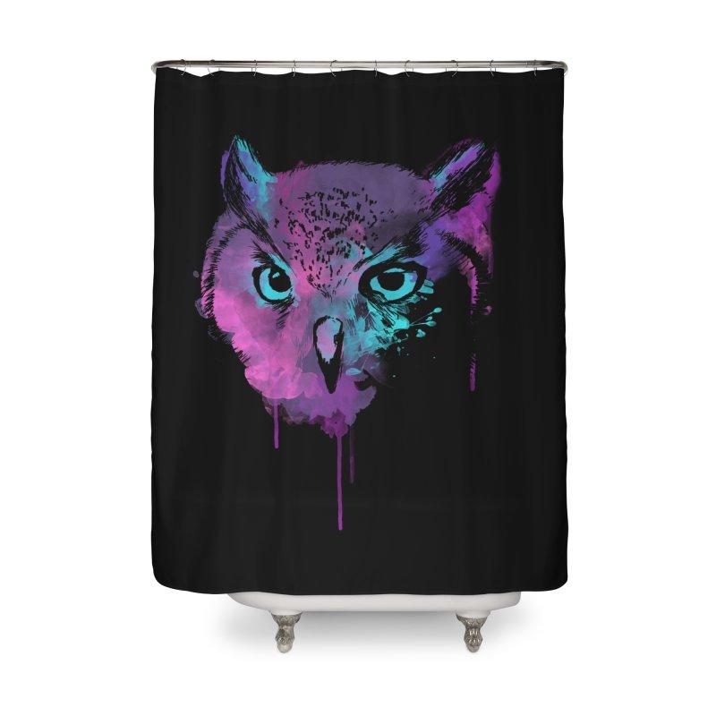 OWL SPLASH Home Shower Curtain by Winterglaze's Artist Shop