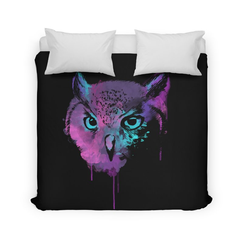 OWL SPLASH Home Duvet by Winterglaze's Artist Shop