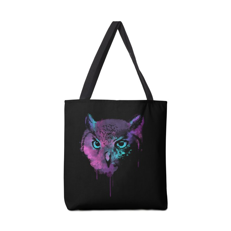 OWL SPLASH Accessories Tote Bag Bag by Winterglaze's Artist Shop