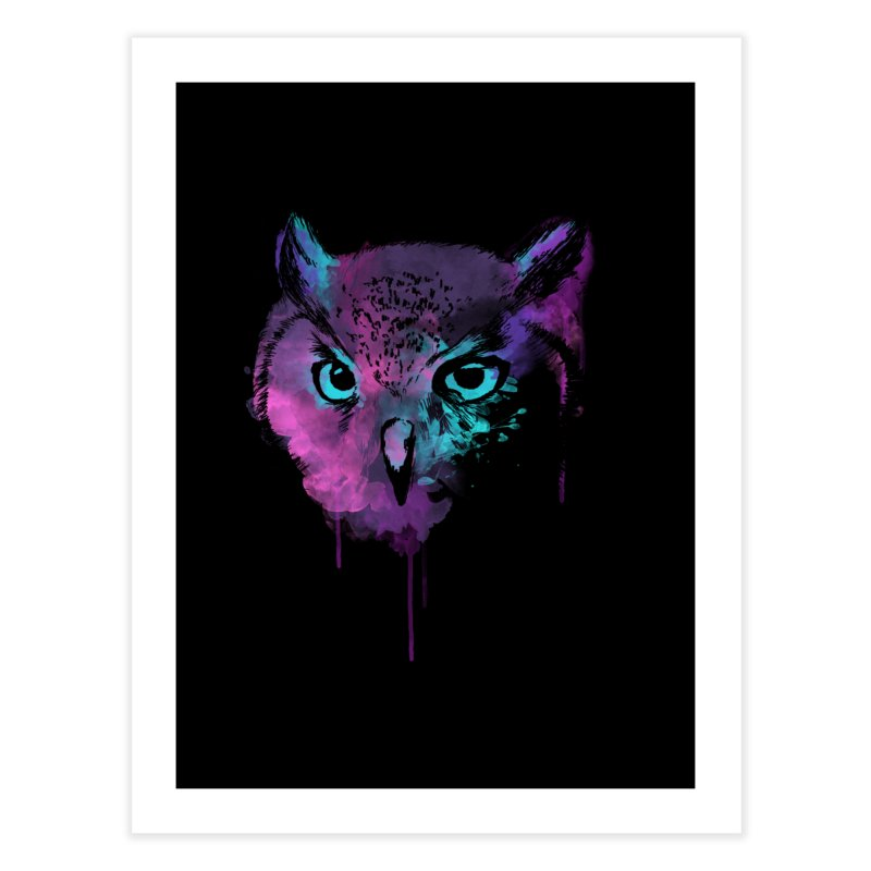 OWL SPLASH Home Fine Art Print by Winterglaze's Artist Shop