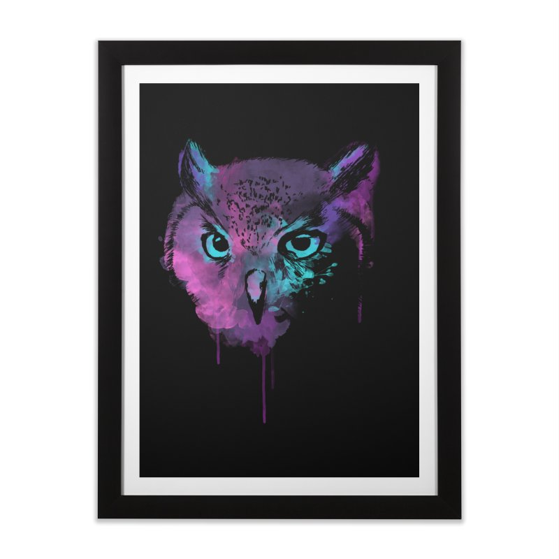 OWL SPLASH Home Framed Fine Art Print by Winterglaze's Artist Shop