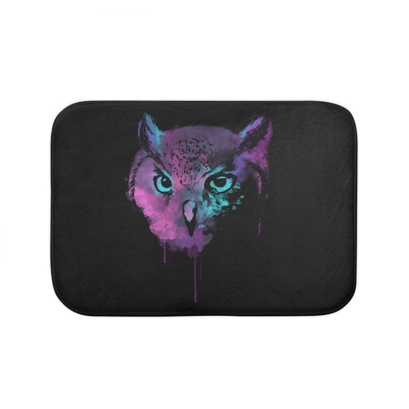 OWL SPLASH Home Bath Mat by Winterglaze's Artist Shop