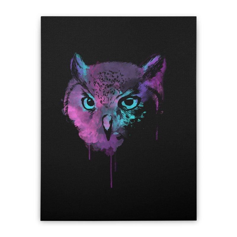 OWL SPLASH Home Stretched Canvas by Winterglaze's Artist Shop
